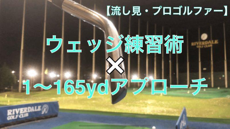 【流し見】ウェッジ練習術×1〜165ydアプローチ(プロゴルファー)|ゴルフルーティン