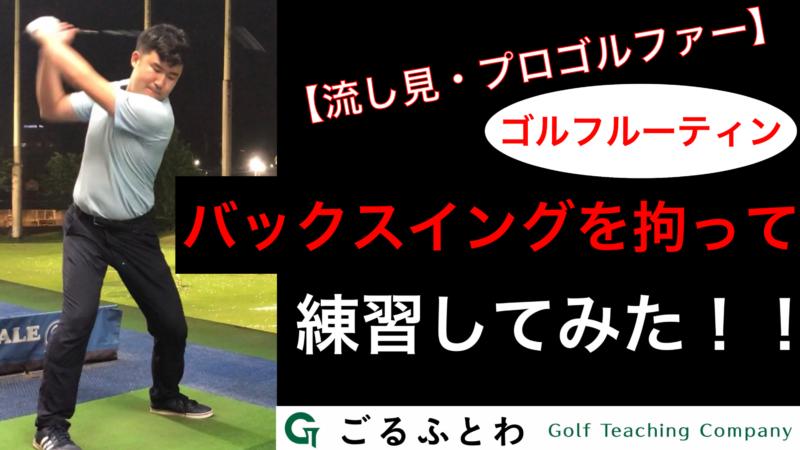 【流し見】バックスイングを拘って練習してみた!!(プロゴルファー) ゴルフルーティン