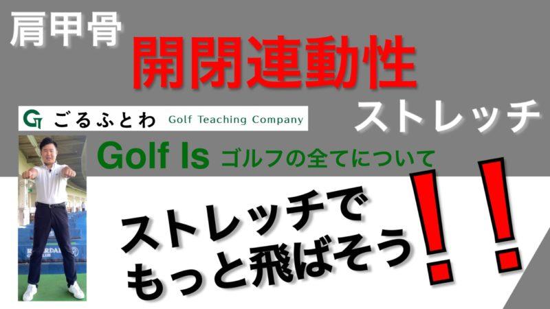 【Golf Is】肩甲骨開閉連動性ストレッチ ストレッチでもっと飛ばそうシリーズ【ゴルフイズ】
